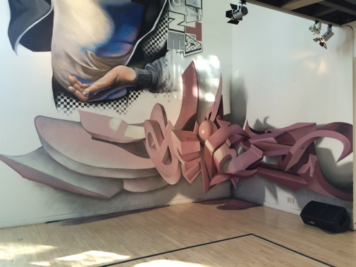 Anamorphic graffiti letters Breakin Convention - International Festival of Hip Hop (18)-s