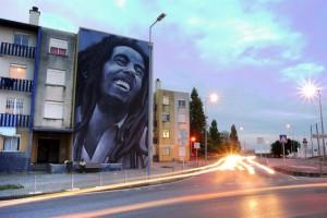 Bob Marley Street Art Mural - Odeith Quinta do Mocho 2014-s