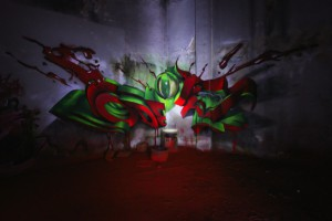 spot light anamotphic red floor - odeith 2014-s